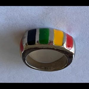 Beautiful inlay multi colored ring size 8